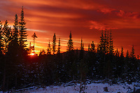 Rocky Mountain sunrise, Colorado.