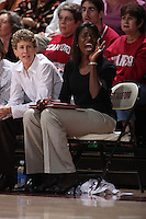 15 November 2007: Stanford Cardinal assistant coach Bobbie Kelsey during Stanford's 97-62 loss against the USA Women's National Basketball Team at Maples Pavilion in Stanford, CA.