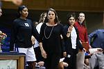15 November 2016: Duke head coach Joanne P. McCallie. The Duke University Blue Devils hosted the Longwood University Lancers at Cameron Indoor Stadium in Durham, North Carolina in a 2016-17 NCAA Division I Women's Basketball game. Duke won the game 105-48.