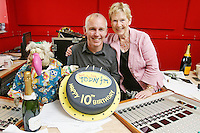3/9/2010. 10 years of the Ray D'Arcy Show.  Dustin and Mary D'Arcy (Rays Mum) are pictured with Ray D'Arcy in the Today FM Studios, live on the Ray D'Arcy Show where the show is celebrating 10 years to the day of broadcasting on Today FM. Picture James Horan/Collins Photos