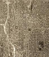 historical aerial photograph Salt Lake City, Utah, 1962