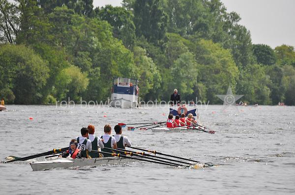 Thames Ditton Regatta..Wallingford Rowing Club vs Windsor Boys (79):.J14 B Boys 4X+.cox Ed Mills.4 Tom Brock.3 Dan Wilkinson.2 Arthur Arnould.1 Robin Bowen-Bowker.Boat Why