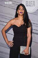 LONDON, UK. December 4, 2016: Amara Karan at the British Independent Film Awards 2016 at Old Billingsgate, London.<br /> Picture: Steve Vas/Featureflash/SilverHub 0208 004 5359/ 07711 972644 Editors@silverhubmedia.com