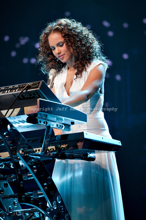 Alicia Keys live in concert at Nokia Theatre on April 2, 2010 in Grand ...