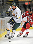 18 January 2008: University of Vermont Catamounts' defenceman Kyle Medvec, a Freshman from Burnsville, MN, in action against the Northeastern University Huskies at Gutterson Fieldhouse in Burlington, Vermont. The two teams battled to a 2-2 tie in the first game of their 2-game weekend series...Mandatory Photo Credit: Ed Wolfstein Photo