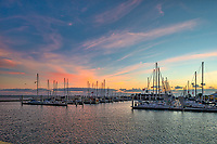 We captured this photo in the early morning right before the sunrise.  I loved the sky with the colors and all the sailboats just waiting for another day to venture out on the bay.