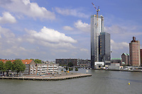 Rotterdam views of skyscraper and harbor