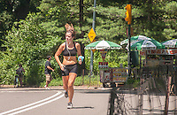 Exercise enthusiasts run in Central Park in New York on Sunday, July 7, 2013. Despite temperatures in the nineties with corresponding humidity causing the heat indices to hit 105, people participated in some of their favorite exercises. Sunday is expected to be the hottest day of the heat wave with the city issuing a heat advisory until 8 PM. (© Richard B. Levine)