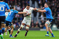 Courtney Lawes of England takes on the Italy defence. RBS Six Nations match between England and Italy on February 26, 2017 at Twickenham Stadium in London, England. Photo by: Patrick Khachfe / Onside Images