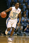 08 November 2008: North Carolina's Larry Drew II. The University of North Carolina Tarheels defeated the University of North Carolina at Pembroke Braves 102-62 at the Dean E. Smith Center in Chapel Hill, NC in an NCAA exhibition basketball game.