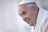 Pope Francis  during his weekly general audience in St. Peter square at the Vatican, Wednesday.December 16, 2015.