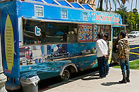The Surfer Taco, Gourmet Food Truck, Mid Wilshire, Los Angeles CA. Miracle Mile district.