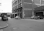 Pittsburgh PA - View of the Thorofare warehouse and offices at 17th and Smallman Streets in the Strip District - 1956.  On location assignment for Commonnwealth Realty, selling the Thorofare warehouse building