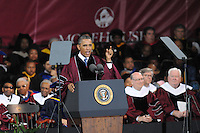 Credit:  Joeff Davis<br /> <br /> May 19, 2013<br /> <br /> President Obama speaks at graduation at Morehouse University in Atlanta