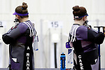 COLUMBUS, OH - MARCH 11:  Ariana Grabowski, left, and Casey Lutz, of Texas Christian University, compete during the Division I Rifle Championships held at The French Field House on the Ohio State University campus on March 11, 2017 in Columbus, Ohio. (Photo by Jay LaPrete/NCAA Photos via Getty Images)