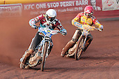 Piotr Swiderski leads Krzystof Kasprzak - Birmingham Brummies vs Lakeside Hammers - Elite League Speedway - 21/07/11 - MANDATORY CREDIT: TGSPHOTO - Self billing applies where appropriate - 0845 094 6026 - contact@tgsphoto.co.uk - NO UNPAID USE.