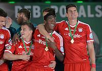 FUSSBALL       DFB POKAL FINALE        SAISON 2012/2013 FC Bayern Muenchen - VfB Stuttgart    01.06.2013 Bayern Muenchen ist Pokalsieger 2013: Xherdan Shaqiri, David Alaba und Mario Gomez (v.l)