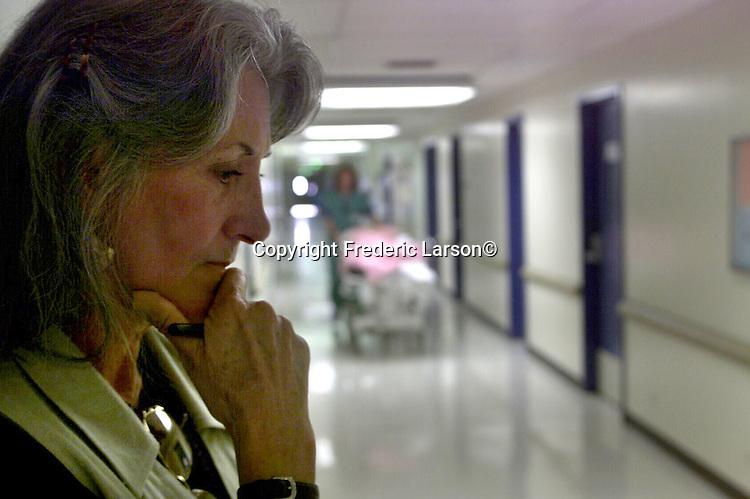 Joyce Huston volunteers at brain General Hospital as a religious chaplain.