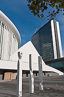 Place de l'Europe: The  Luxembourg Philharmonie and the new congress center on the Kirchberg plateau