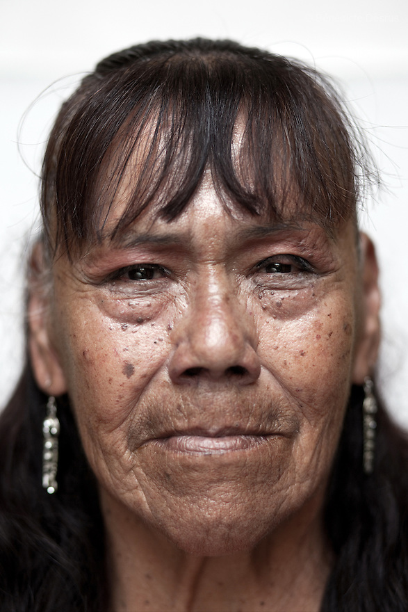 Portrait of Guadalupe, a resident of Casa Xochiquetzal, at the shelter in Mexico City on September 14, 2010. Casa Xochiquetzal is a shelter for elderly sex workers in Mexico City. It gives the women refuge, food, health services, a space to learn about their human rights and courses to help them rediscover their self-confidence and deal with traumatic aspects of their lives. Casa Xochiquetzal provides a space to age with dignity for a group of vulnerable women who are often invisible to society at large. It is the only such shelter existing in Latin America. Photo by Bénédicte Desrus