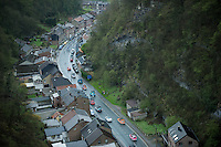 Liege-Bastogne-Liege 2012.98th edition..birdsview of the peloton