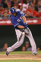 08/16/11 Anaheim, CA:Texas Rangers right fielder Nelson Cruz #17 during an MLB game played between the Texas Rangers and the Los Angeles Angels at Angel Stadium. The Rangers defeated the Angels 7-3.