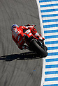 July 23, 2010 - Laguna Seca, USA - Ducati's Australian rider, Casey Stoner, takes a curve at a practice run prior to the U.S. Grand Prix held on July 25, 2010. (Photo Andrew Northcott/Nippon News)