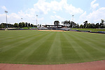 04 June 2016: A wide shot of Coleman Field from the outfield. The Nova Southeastern University Sharks played the Millersville University Marauders in Game 14 of the 2016 NCAA Division II College World Series  at Coleman Field at the USA Baseball National Training Complex in Cary, North Carolina. Nova Southeastern won the game 8-6 and clinched the NCAA Division II Baseball Championship.