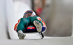 7 February 2009: Shiva Keshavan slides for India in the Men's Competition at the 41st FIL Luge World Championships, in Lake Placid, New York, USA. .  .Mandatory Photo Credit: Ed Wolfstein Photo