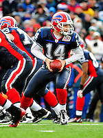 20 December 2009: Buffalo Bills' rquarterback Ryan Fitzpatrick (14) in action during a game against the New England Patriots at Ralph Wilson Stadium in Orchard Park, New York. The Patriots defeated the Bills 17-10. Mandatory Credit: Ed Wolfstein Photo