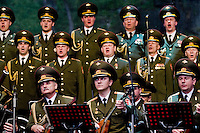 Singers and the balalaika players of the Russian Army Choir ?Alexandrov Ensemble? perform during a concert given in Loket, Czech Republic, 14 June 2009. Alexandrov Ensemble (established in 1928) is the official army choir of the Russian armed forces (Red Army). The ensemble consists of a male choir, a music orchestra and a dance ensemble. The music repertoire of Alexandrov Ensemble range from traditional Russian balalaika tunes to church hymns, Italian opera arias and pop music songs.