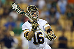 29 April 2016: Notre Dame's Sergio Perkovic. The University of Notre Dame Fighting Irish played the Duke University Blue Devils at Fifth Third Bank Stadium in Kennesaw, Georgia in a 2016 Atlantic Coast Conference Men's Lacrosse Tournament semifinal match. Duke won the game 10-9 in overtime.