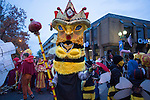 A queen bee stops at the intersection of Court Street and Washington Street during the Honey for the Heart parade on October 31, 2015. Photo by Emily Matthews
