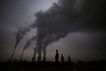 Smoke from a coal power plant, Shizuishan city, Ninxia, September 7, 2009