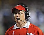 Ole Miss assistant coach Gunter Brewer vs. Alabama at Vaught-Hemingway Stadium in Oxford, Miss. on Saturday, October 14, 2011. Alabama won 52-7.