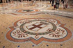 The tiled floor of Vittorio Emanuele II Shopping Gallery in Milan; Italy