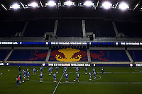 Argentina players warm up together during a practice at Red Bull stadium ahead of his friendly match against Ecuador in New Jersey, Nov 13, 2013. VIEWpress/Eduardo Munoz Alvarez