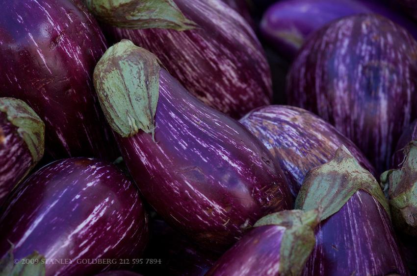 Listada de Gandia is a purple and white striped italian variety of egg plant.