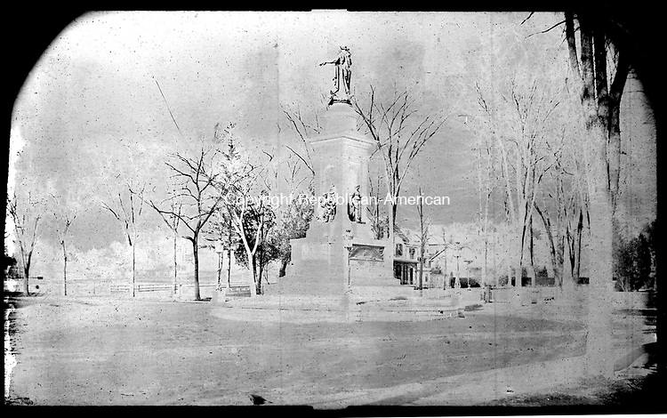 Frederick Stone negative. Soldiers Monument February 1887.