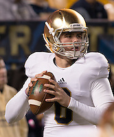 Notre Dame quarterback Charlie Fiessinger. The Pittsburgh Panthers defeated the Notre Dame Fighting Irish 28-21 at Heinz Field, Pittsburgh, Pennsylvania on November 9, 2013.