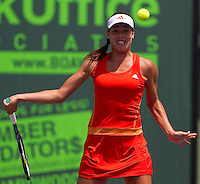 Ana IVANOVIC (SRB) against Pauline PARMENTIER (FRA) in the first round of the women's singles. Ivanovic beat Parmentier 6-4 6-3..International Tennis - 2010 ATP World Tour - Sony Ericsson Open - Crandon Park Tennis Center - Key Biscayne - Miami - Florida - USA - Thurs  25 Mar 2010..© Frey - Amn Images, Level 1, Barry House, 20-22 Worple Road, London, SW19 4DH, UK .Tel - +44 20 8947 0100.Fax -+44 20 8947 0117
