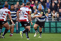 Ross Batty of Bath Rugby in possession. West Country Challenge Cup match, between Bath Rugby and Gloucester Rugby on September 26, 2015 at the Recreation Ground in Bath, England. Photo by: Patrick Khachfe / Onside Images