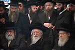 Different Haredi sects have joined forces during a general election assembly of &quot;Yahadut Hatorah&quot;, an ultra-Orthodox Jewish party running for the Israeli parliament, the Knesset.<br /> In a rare view, top leaders of the different Hasidic courts have met to coordinate their standpoints. Front row from left to right, sitting are The Admor of Belz, The Admor of Gur, The Admor of Slonim. &quot;Admor&quot; is a Jewish phrase meaning &quot;Our Master, Our Teacher, and Our Rabbi.&quot;