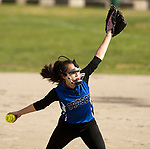 WATERBURY,  CT-051117JS11- Cosby's Jasmine Roman (1) delivers a pitch during their game against WCA Thursday at Huntingdon Park in Waterbury. <br />  Jim Shannon Republican-American