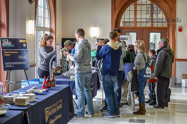 November 19, 2016; College of Science event on a football Saturday. (Photo by Matt Cashore/University of Notre Dame)