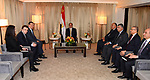 Egypt's President Abdel Fattah al-Sisi attends a meeting, in Washington, United States on April 6, 2017. Photo by Egyptian President Office