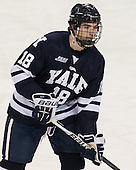 Kenny Agostino (Yale - 18) - The Boston College Eagles tied the visiting Yale University Bulldogs 3-3 on Friday, January 4, 2013, at Kelley Rink in Conte Forum in Chestnut Hill, Massachusetts.