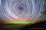 Star trails and aurora, Pictured Rocks National Lakeshore