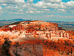 Posterized landscape in USA with red rocks