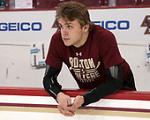 Graham McPhee (BC - 27) - The visiting Boston University Terriers defeated the Boston College Eagles 3-0 on Monday, January 16, 2017, at Kelley Rink in Conte Forum in Chestnut Hill, Massachusetts.